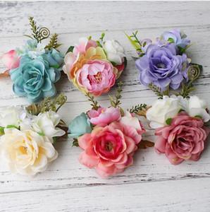 Korean Style Bridal Flower Leopard Hair Clip Hairpins Barrette Wedding Decoration Hair Accessories Beach Hairwear