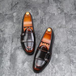 Yomior 2018 Hommes Casual Chaussures En Cuir De Mode Britanique Appartements Confortable Homme Habillé Habillé Chaussures formelles Partie De Mariage Oxford