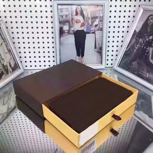 2018 Mujeres Famosas de cuero real de larga sola cremallera billetera monedero titular de la tarjeta bolsillo zippey clásico Máscara Chaine 60017 60015 con caja gc # 13 bolsas