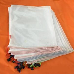 Полиэстер расслоение карманные популярные легкие сумки для хранения сплайсинга сетчатые сетки ткань 12 шт. шнурок сумка многоразовые прочный уборка 21qc ii