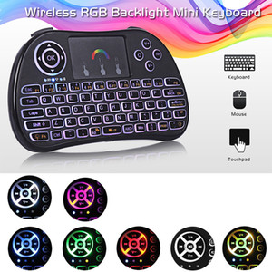 Mini I8 Backlit Wireless Touchpad Tastatur Air Mouse Multifunktions Für PC Pad Android TV Box mit Kleinpaket