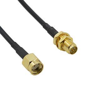 3 M Externo Wi-fi Sem Fio Antena Cabo de Extensão com RP-SMA Macho para RP SMA Conector Fêmea RG174