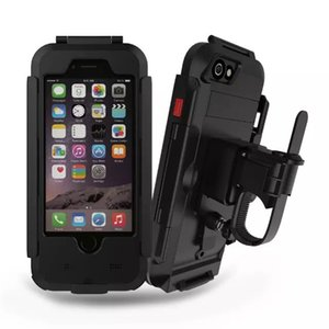 Luxury Waterproof Universal Motorcycle Bike Bicycle Handlebar Holder Stand Armor Outdoor Phone Case For Iphone 7 Drop Shipping