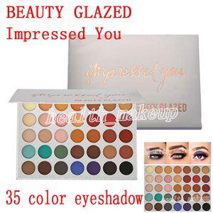 nova maquiagem Beauty Glazed Eyeshadow Palette 35 cores impressionado você matte shimmer Eyeshadow Palette beleza vidros marca cosméticos DHL