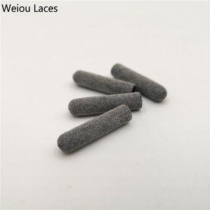 Weiou 4 pcs / 1 conjunto 3 m dicas de plástico reflexivo 22mm * 5mm luxo cinza aglets para hoodies laços cadarços cadeados bootlaces diy kits