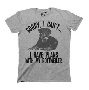 Sorry, ich kann nicht mit meinem Rottweiler Dog T-Shirt Pläne Mens Damen Unisex