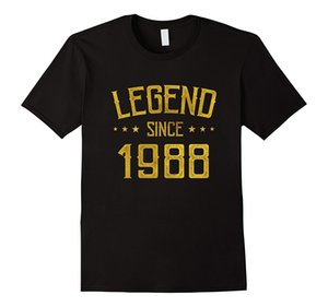 Légende depuis 1988 depuis 29 ans B - Jour 29 Cadeau d'anniversaire Bonne Qualité Marque Coton T-shirt Style Été T-shirts