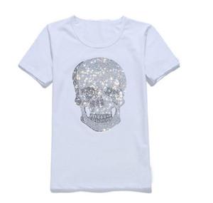 High-quality New Fashion Rhinestone T Shirt Men Medusa Party Luxury Clothing Skulls Print Casual Slim Robin Short Sleeve