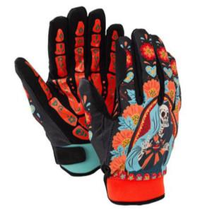 Guanti da sci Skull per uomo Donna Punk Skull Snow Gloves Winter Thermal Impermeabile antiscivolo Pattinaggio Sci Guanti Sport Donna Uomo C18111501