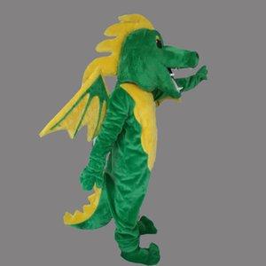 2019 venda quente tamanho Adulto mascote Dianossauro personalizado Verde Voar Dragão traje do vestido extravagante Shool Evento Festa de Aniversário Traje Da Mascote
