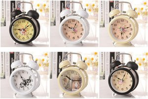 Mix colore casuale Classic Alarm Clock Round Numero Double Bell Desk Table Clock - Homehold Retro Home Decor