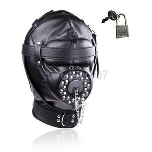 Restraints Hood Gimp Kopfmaske Stecker Vollkopfbedeckungen Weiche Maulkorb Mund Blindfold # E94 Cbhuf