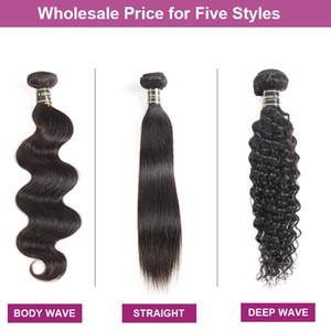 공장 직접 판매 저렴한 밍크 브라질 버진 머리카락 똑 바른 몸 몸 물결 친애하는 곱슬 인간의 머리카락 확장 도매 Wefts