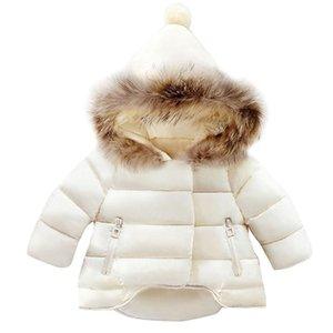 الوليد الطفل بنات بنين الموضة كم طويل الشتاء في الهواء الطلق انغلق مقنع معطف