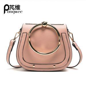 PONGWEE 2017 New Tide Messenger Bag versione coreana di borse a tracolla selvaggio Bag Sella Rotonda borsa