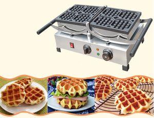 Fabricante de Waffle de giro belga industrial comercial de aço inoxidável / Waffle de giro elétrico que faz a máquina para a venda LLFA