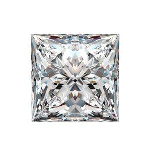 0.15Ct ~ 6.0Ct (2.5MM ~ 10MM) Princess Cut D / F Color VVS con un certificato per l'impostazione del diamante da laboratorio Diamante sciolto Moissanite Stone 3EX