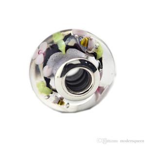 La cuenta encantada del encanto del Murano del jardín cabe la pulsera del estilo de Pandora 797014 H9