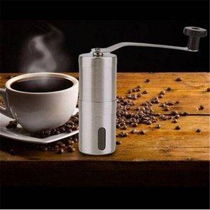 Práctico molinillo de café en grano mano manual de acero inoxidable hecho a mano amoladora