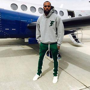 Calças dos homens Medo de Deus Quinta Coleção FOG Justin Bieber Zíper Lateral Casuais Sweatpants Homens Hiphop Basculador Calças 6 Estilo S-2XL
