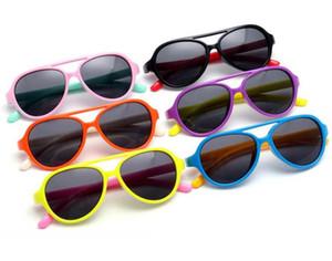 Nouvel upadte 2017 nouveaux enfants rétro grenouille miroir lunettes de soleil extérieures marque de mode lunettes de soleil lunettes polarisées