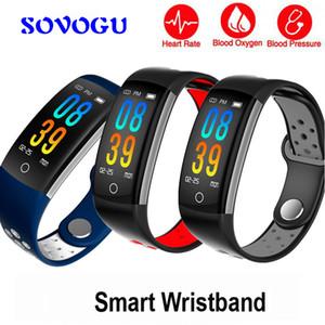 SOVO Q6 스마트 팔찌 HR 피트니스 트래커 Smart band SleepTracker 방수 IP68 Activity Tracker 안드로이드 IOS 용 팔찌