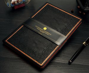 Pontilhada capa dura A5 Notebook Manuscrito Diário de Bordo Jornal Bujo couro Vintage
