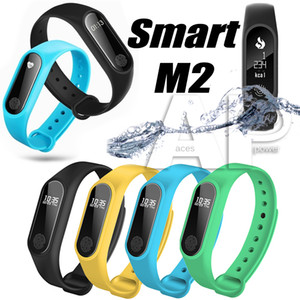 패키지와 안드로이드 활동 추적기 시계에 대한 M2 스마트 팔찌 스마트 시계 모니터 Smartband 건강 피트니스 밴드