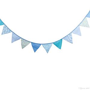 Fanions de coton Double Face Imprimé Triangle Forme Bannière Bannière Pour La Fête D'anniversaire Des Enfants Drapeaux Suspendus Décorations De Mariage 13 5wfb ZZ