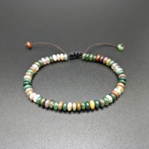 Ajustável Dial jóias string única atacado pulseira talão naturais contas de pedra Shambhala pulseira da amizade B100