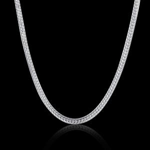 100% de aço inoxidável colar redondo cadeia de cobra caber pandora moda jóias fábrica de fábrica ligações cadeia 2 mm 18-28 polegadas