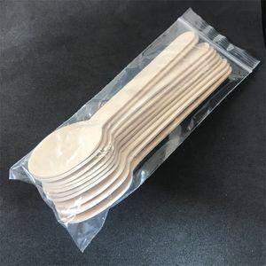 Moda Wood Spoon Bar Hotel Restaurante Home Dinner Set Handy Food Helado Desechable Conveniente 16cm Longitud Scoop 0 11ty ii