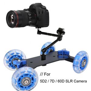 2 colori della macchina fotografica della fotocamera Stabilizzatore del desktop Dolly Dolly per la fotocamera SLR Canon 5DII / 7D / 60D