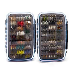 180 Pcs Wet Dry Nymph Minnow Fly Fishing Flies Lure Set Fly Kit mão Flies empatado em Trout Pike Grayling Artificial