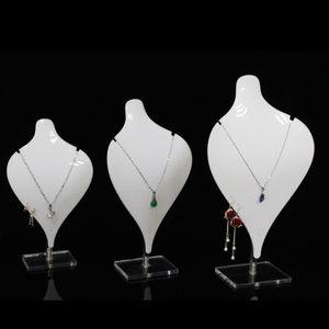 Acrílico Big Necklace Pantalla Pantalla Prop Rack Joyería Cadena Colgante Charm Collar Muestra para Boutique Kiosk Shop Showcase Estantería Exhibición