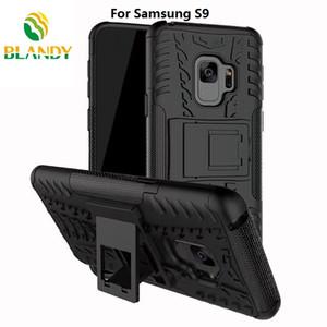 para Samsung galaxy S9 plus 2 en 1 Comb Armor Hybrid TPU + PC Hard Cover Stand Case para Samsung J2 pro 2018