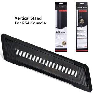 Soporte de soporte vertical para soporte de montaje vertical para la consola PS4 de color negro con paquete de caja de regalo