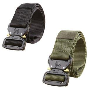 Cinto tático Homens Equipamento Militar Do Exército Fivela De Metal Cintos De Nylon SWAT Soldado Combate Heavy Duty Molle Carry Survival Cintura