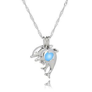 Colar de golfinho Brilham no Escuro luminoso colares pingente jóias charme choker pingentes colares para as mulheres melhor presente