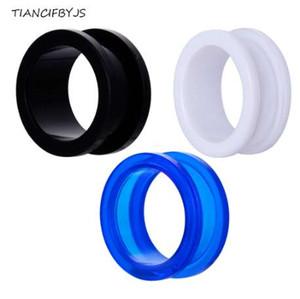 TIANCIFBYJS 2pcs acrilico tappi per le orecchie e tunnel Vite tunnel di carne piercing carnale tunnel orecchio calibri body jewelry barella goccia