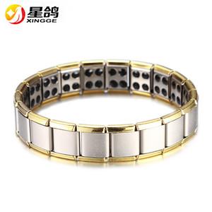 HOT Hommes / Femmes Germanium 316L Bracelet En Acier Inoxydable Cool Power Energy Chain Bracelet Bracelet Anniversaire Amitié Sport Cadeau Antifatigue