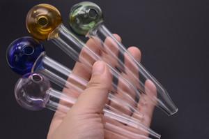 Al por mayor barato más nuevo 12 cm de vidrio tubo de quemador de aceite 16 mm de espesor embriagador tubo de aceite de fumar pipa de uñas para el tubo de aceite de fumar envío gratis