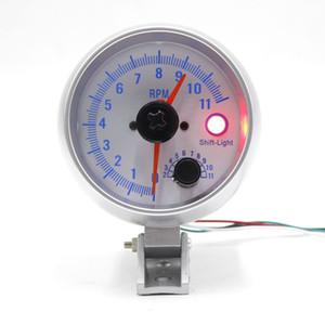 Evrensel Araba 3.75 '' LED Shift Işık Takometre Tako Ölçer Ölçer Adım Motor 0-11000 RPM