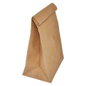 lavable kraft bolsa de pan bolso de rollo de papel de bolsillo resistente al agua lavable bolsas de papel del arte caso de pedidos del OEM
