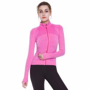 Yocndux Женщины 2017 осень новый запуск спортивная куртка тонкий удобный конфеты цвет фитнес Trainning упражнения куртка Оптовая