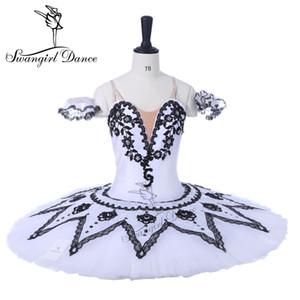 Branco Preto Boneca Profissional Tutu Ballet Mulheres Criança Don Quixote Bailarina Competiton ou Performance YAGP Tutus BT9072