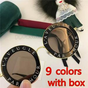 berühmte Art und Weisefrauensonnenbrille 0113 runde Formkristallfeldart und weisesommerart UV400 Objektiv mit neuem Fall G142