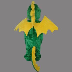 2018 venda quente Tamanho adulto Dianosaur mascote personalizado Green Dragon Fly Máscara Shool festa de aniversário do evento do traje da mascote