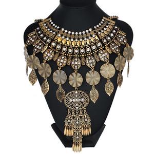 Nouveau design Vintage 2017 Déclaration Colliers Big Bling Fleurs de cristal Pendentifs femmes Maxi Sautoirs Colliers de bijoux fantaisie