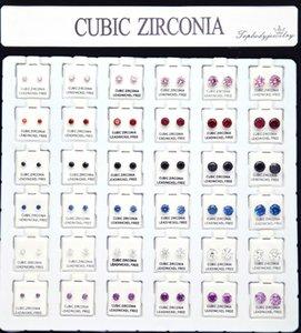La sola garra del clavo de la oreja del solo Zircon de los hombres de Hip-hop fijó los pendientes del taladro de diamante 36 pares de juego al por mayor